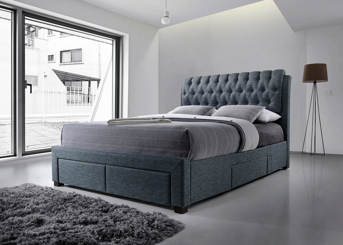 Wayfair Upholstered Bed Home Wayfair Upholstered Bed King: Home Loft Concept Belerda Upholstered Storage Bed Frame