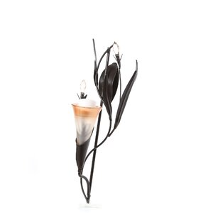 Iron, Glass and Acrylic Candle Sconce