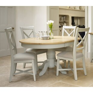 Sundale Round Extendable Dining Set With 4 Chairs