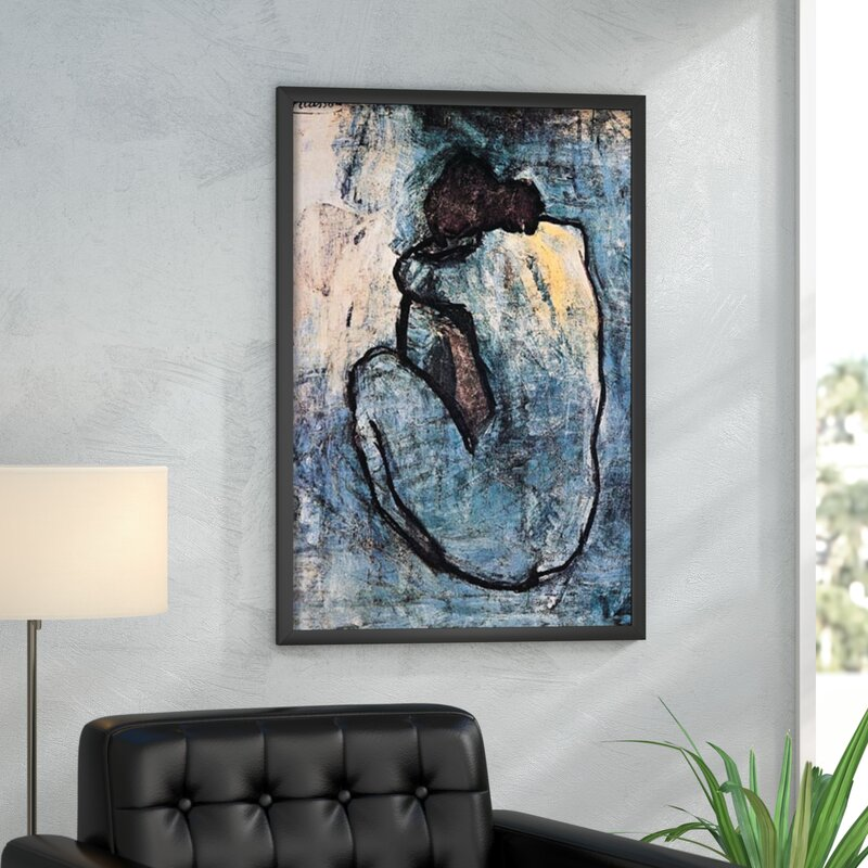 Mercury Row \'Blue Nude\' by Pablo Picasso Framed Painting Print ...