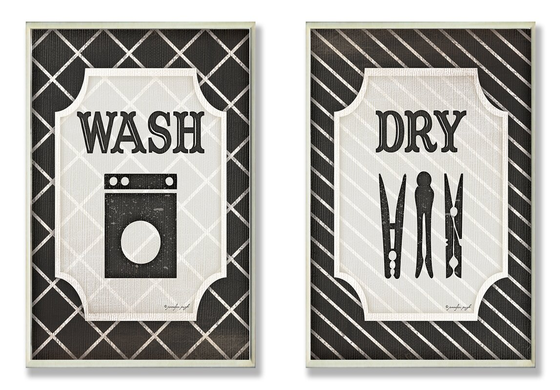 Laundry Wall Plaque Laurel Foundry Modern Farmhouse Wash And Dry' Black And White
