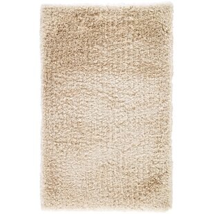 Orion Shag And Flokati Solid Parchment Area Rug