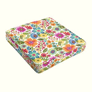 Paxton Floral Piped Indoor/Outdoor Dining Chair Cushion