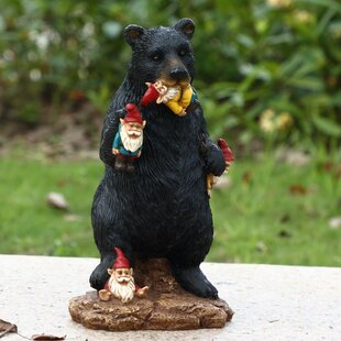 Gnomes In Trouble With Bear Statue