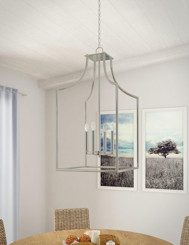 Darby home co yvette 4 light foyer lantern pendant wayfair