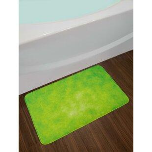 Cloudy Lime Green Bath Rug