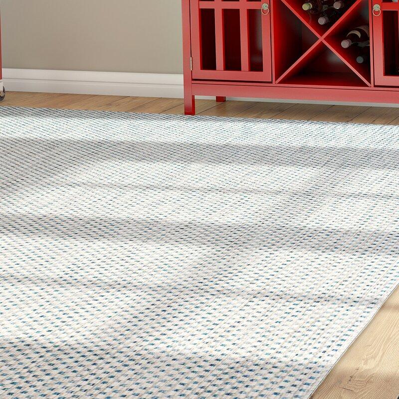 Zipcode design bolen gray navy indoor outdoor area rug for Indoor navigation design