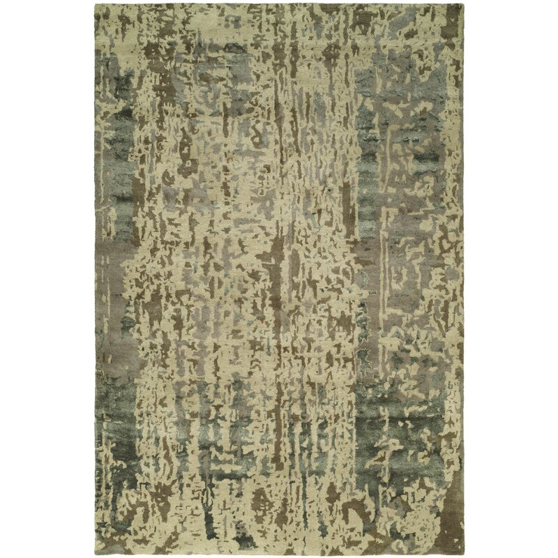 Meridian Rugmakers Dhuri Hand Tufted Green Brown Shadow