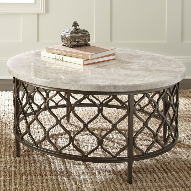 Yellow Marble Coffee Table: World Menagerie Akbar Coffee Table & Reviews
