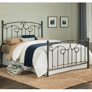 Marcy Metal Panel Bed with Sloping Top Rails and Vertical Spindles by August Grove