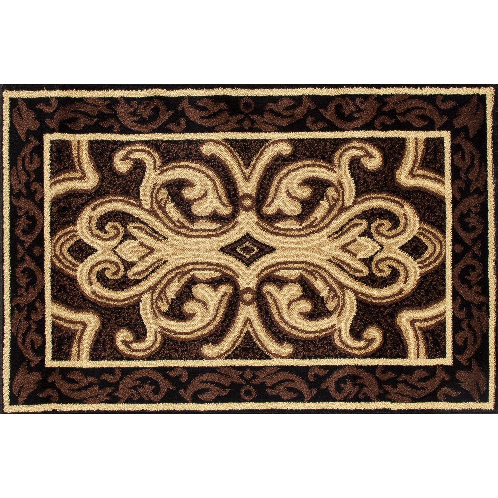 World Menagerie Bethany Classical Brown Black Indoor Outdoor Area