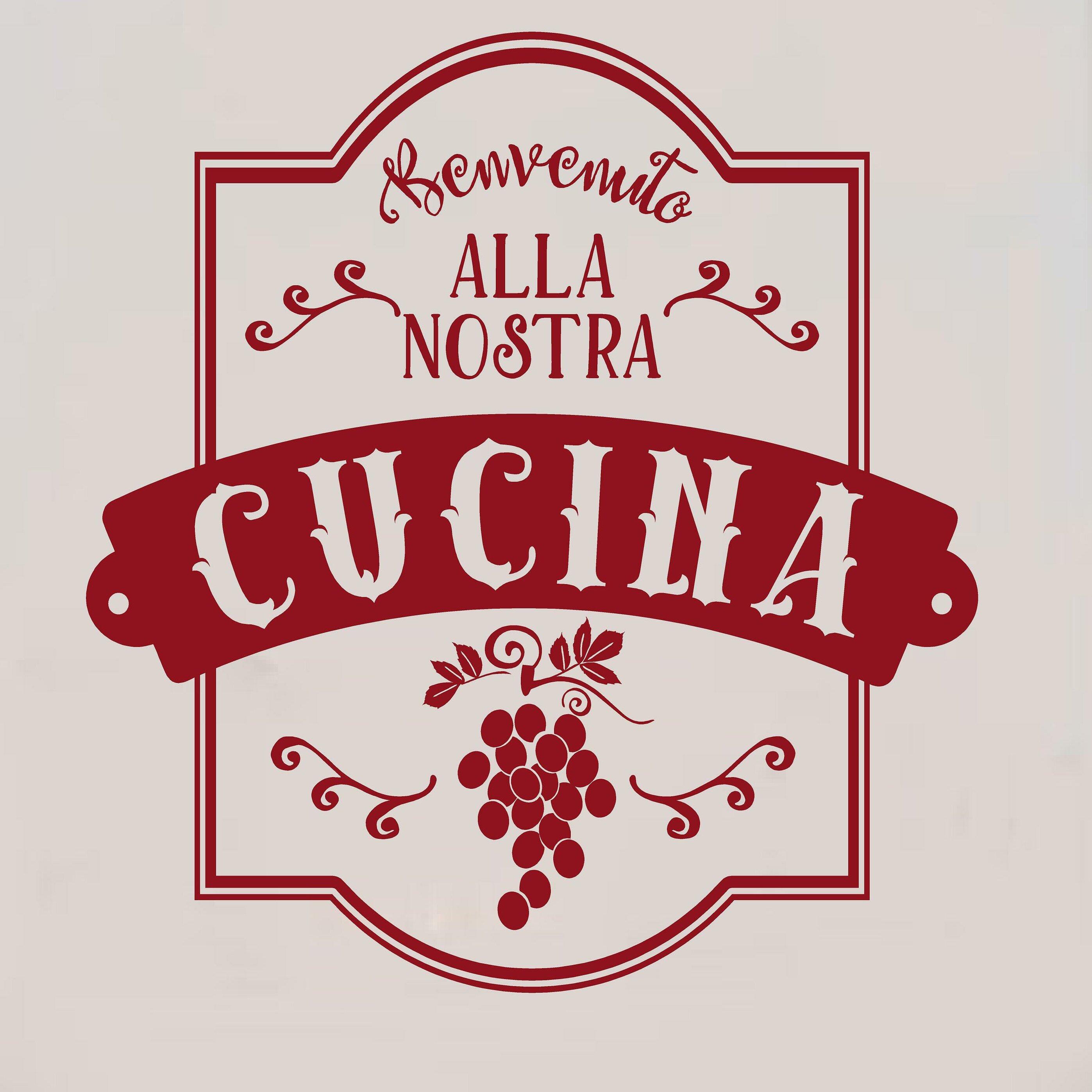 Enchantingly Elegant Benvenuto Alla Nostra Cucina Italian Vinyl Wall ...