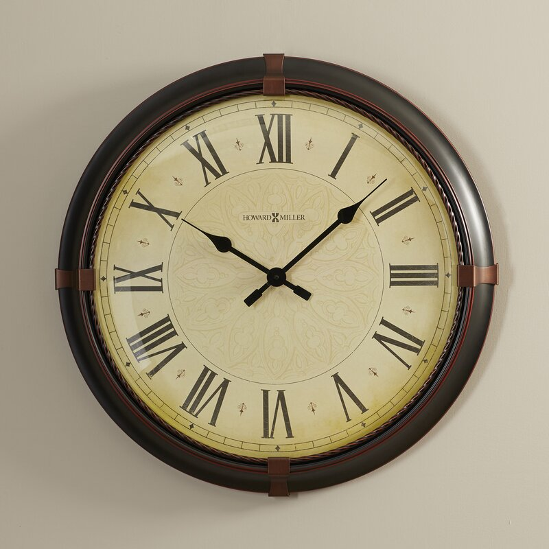 Large Wall Clock In Foyer : Howard miller oversized quot atwater wall clock reviews