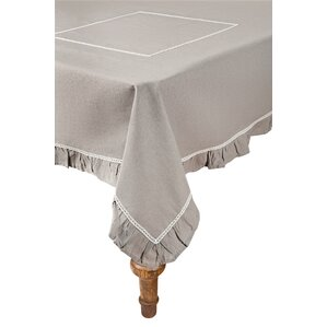 Wonderful Ruffle Trim Tablecloth