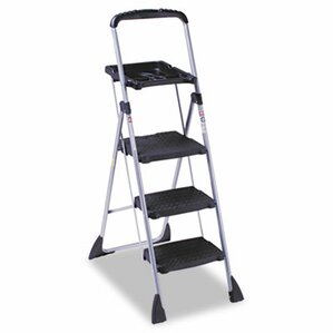 508 ft steel platform step ladder with 225 lb load capacity - Step Stool With Handle