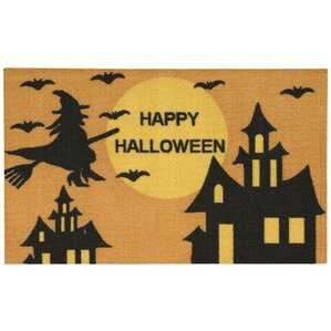 Happy Halloween Orange Area Rug