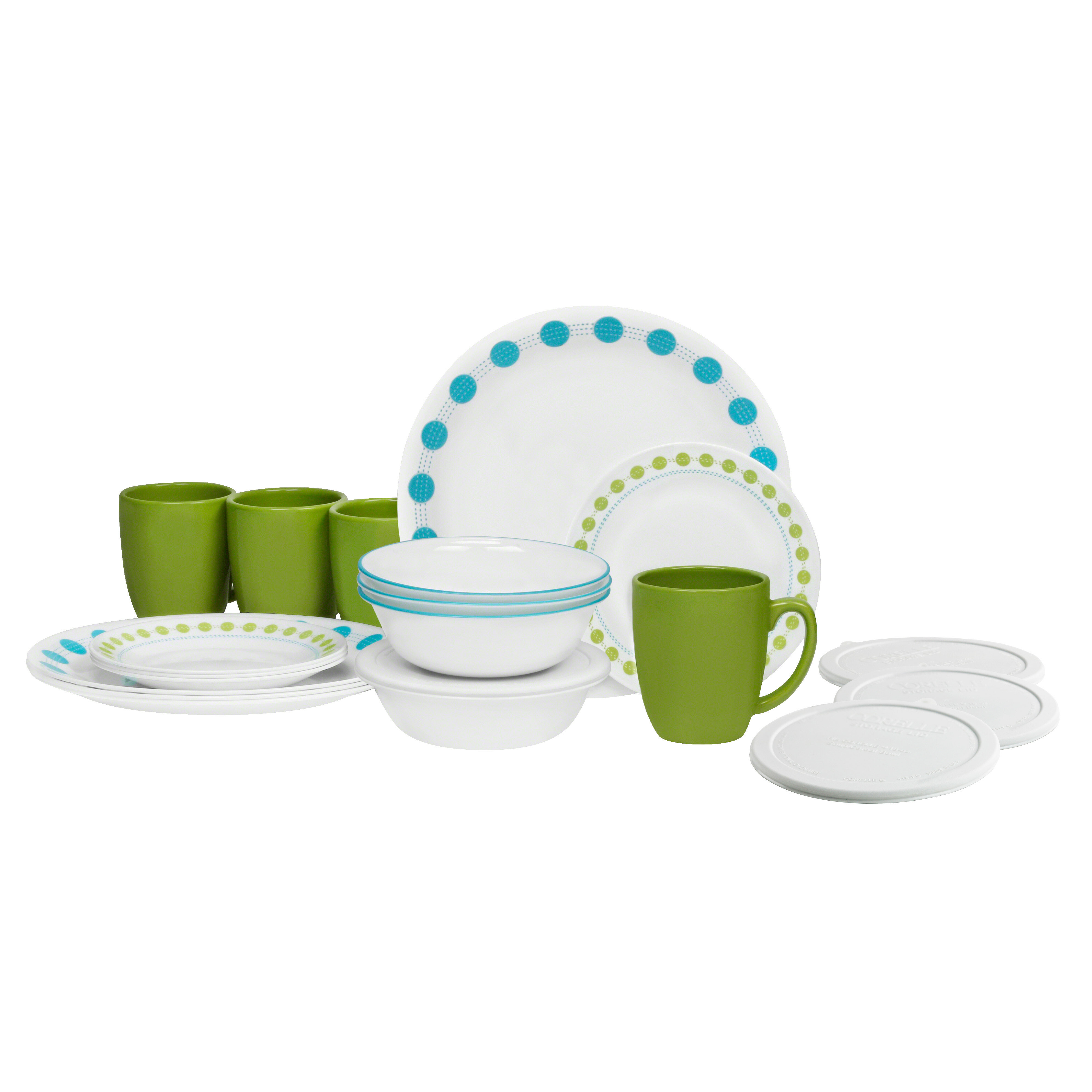 Corelle Livingware 20 Piece Dinnerware Set Service for 4 u0026 Reviews | Wayfair  sc 1 st  Wayfair & Corelle Livingware 20 Piece Dinnerware Set Service for 4 u0026 Reviews ...