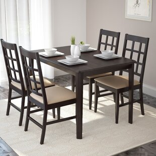 Mendoza 5 Piece Solid Wood Dining Set