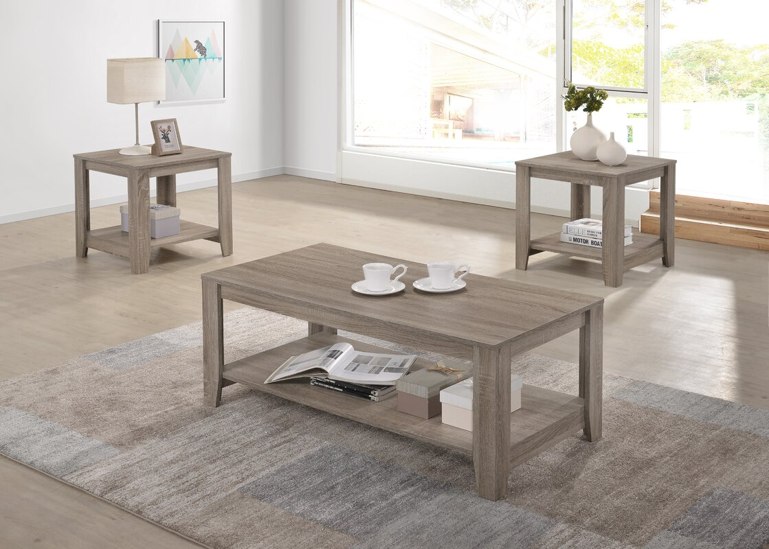 Highland Dunes Hille 2 Piece Coffee Table Set & Reviews | Wayfair