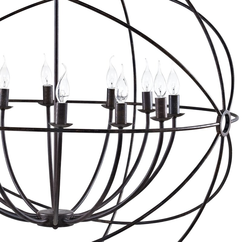 Brayden Studio Geyer 12 Light Globe Chandelier Reviews