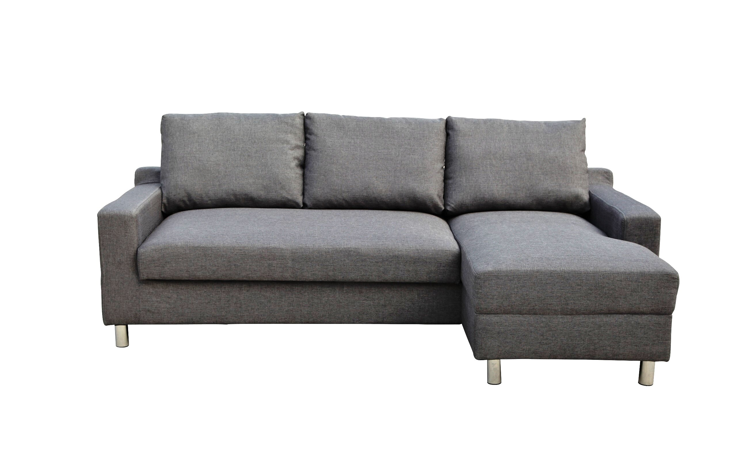 Wade Logan Lainey Sectional Sofabed Grey Right Facing | Wayfair