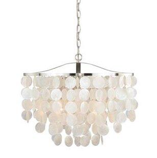 Sea shell chandelier wayfair kym modern capiz shell mini pendant mozeypictures Images