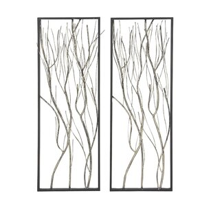 Natural Twig Iron Wall Décor (Set Of 2)