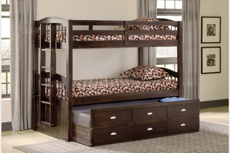 DeMontfort Twin over Twin Double Bed with Drawer