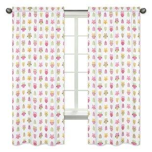 Owl Window Curtain Panels Set Of 2