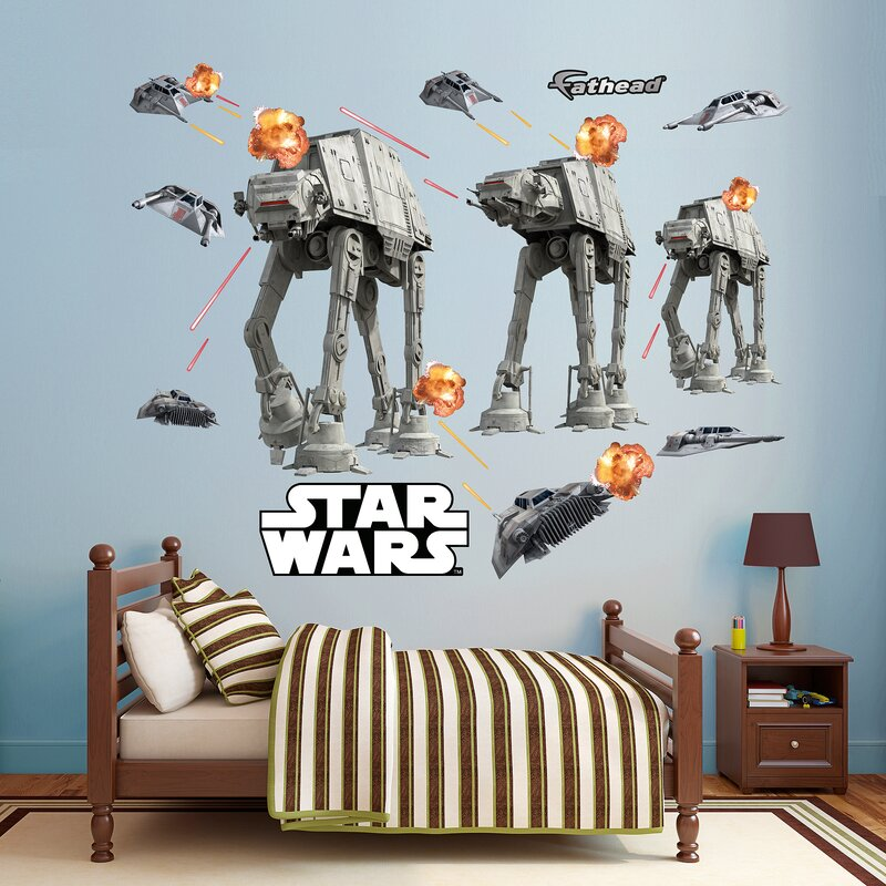 Star Wars   Lucas Battle Of Hoth Peel And Stick Wall Decal