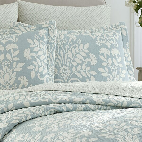 Laura Ashley Home Rowland 100% Cotton Reversible Coverlet