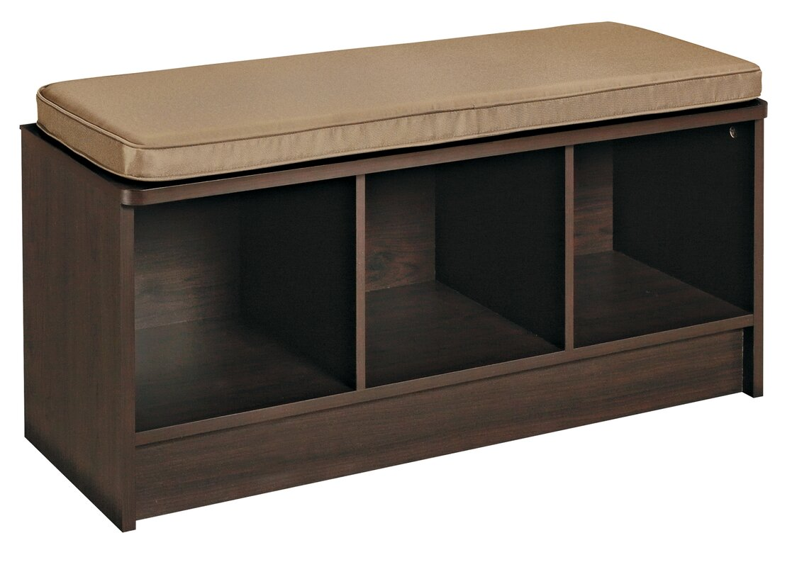 Nice Cubeicals Upholstered Shoe Storage Bench