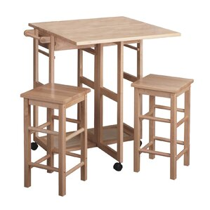 Wynyard 3 Piece Dining Set by Beachcrest Home