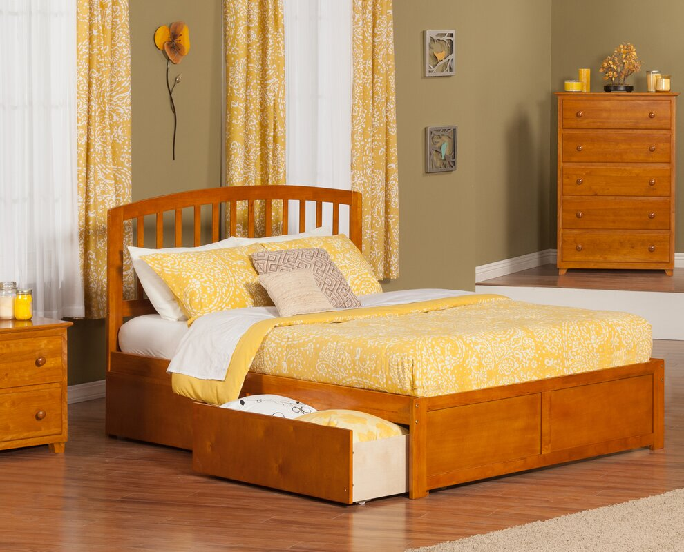 timmy king platform bed with drawer