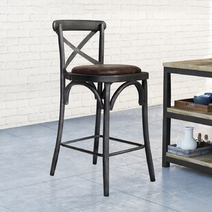 Annette Industrial Metal 37.8 Bar Stool