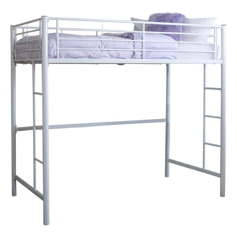 belfort charmaine metal twin loft bed