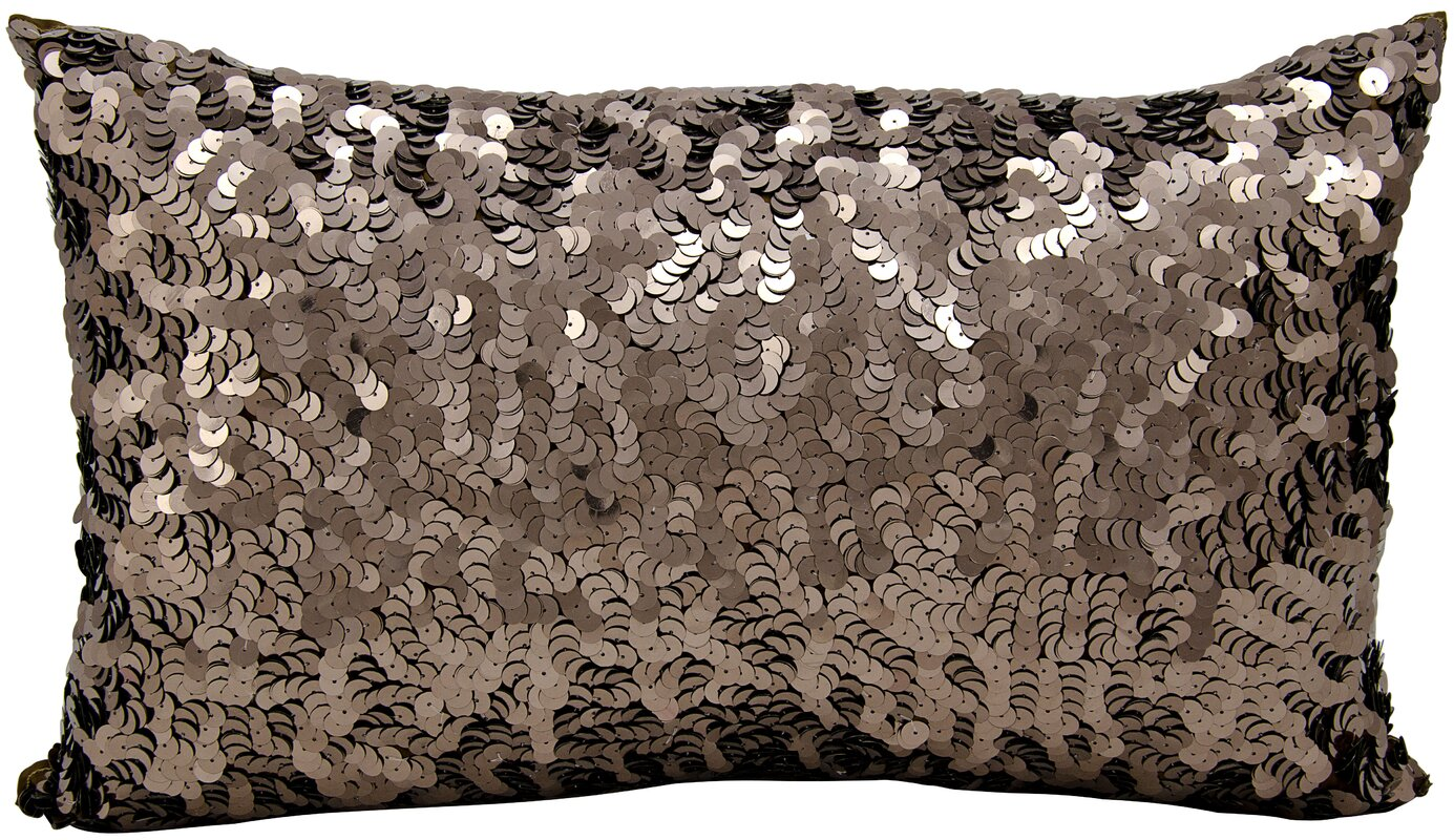 Michael Amini Sequin Silk Lumbar Pillow
