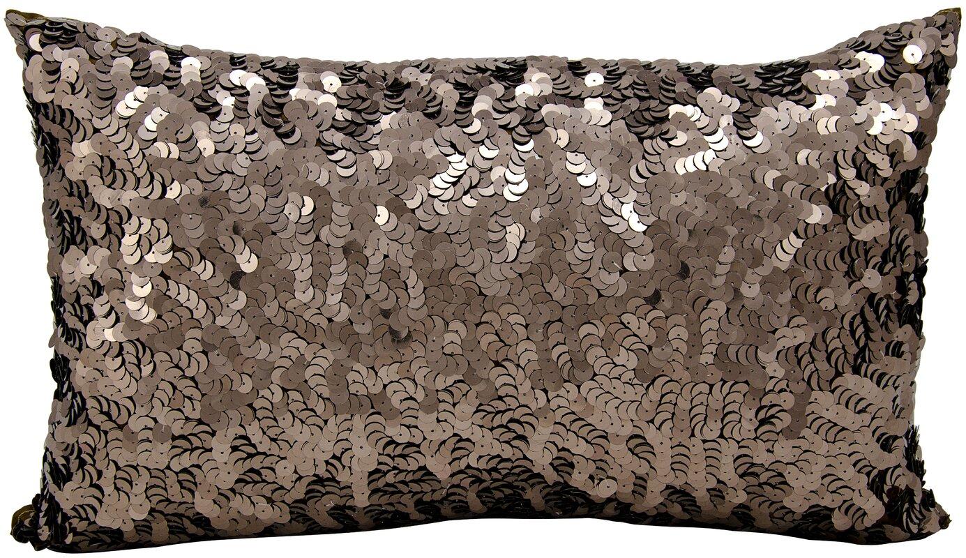 Michael Amini Sequin Silk Lumbar Pillow Amp Reviews Wayfair