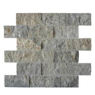 2 X 4 Natural Stone Mosaic Splitface Tile In Silver
