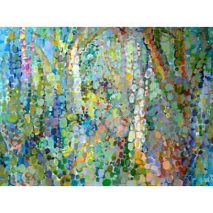 Abstract Woodland Painting Print On Wred Canvas