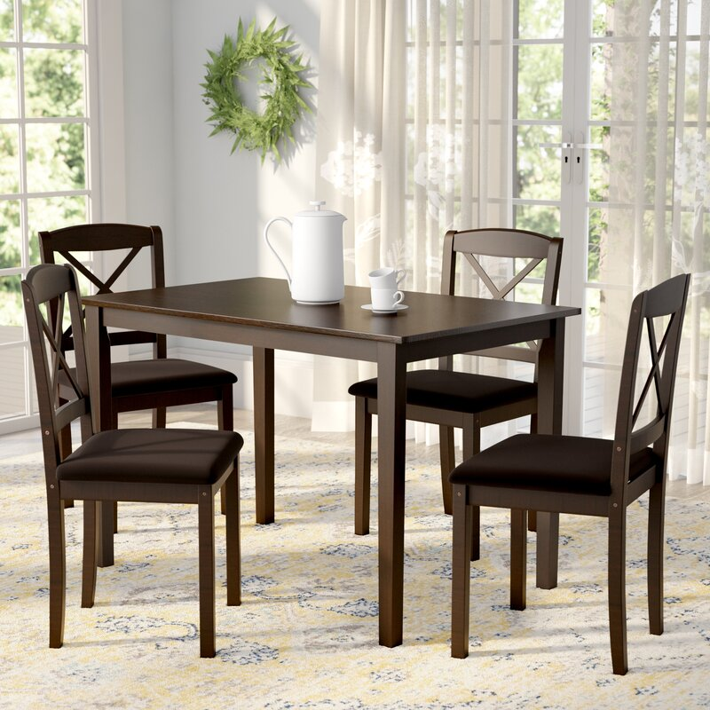 5 Piece Dining Sets august grove scarlett 5 piece dining set & reviews | wayfair