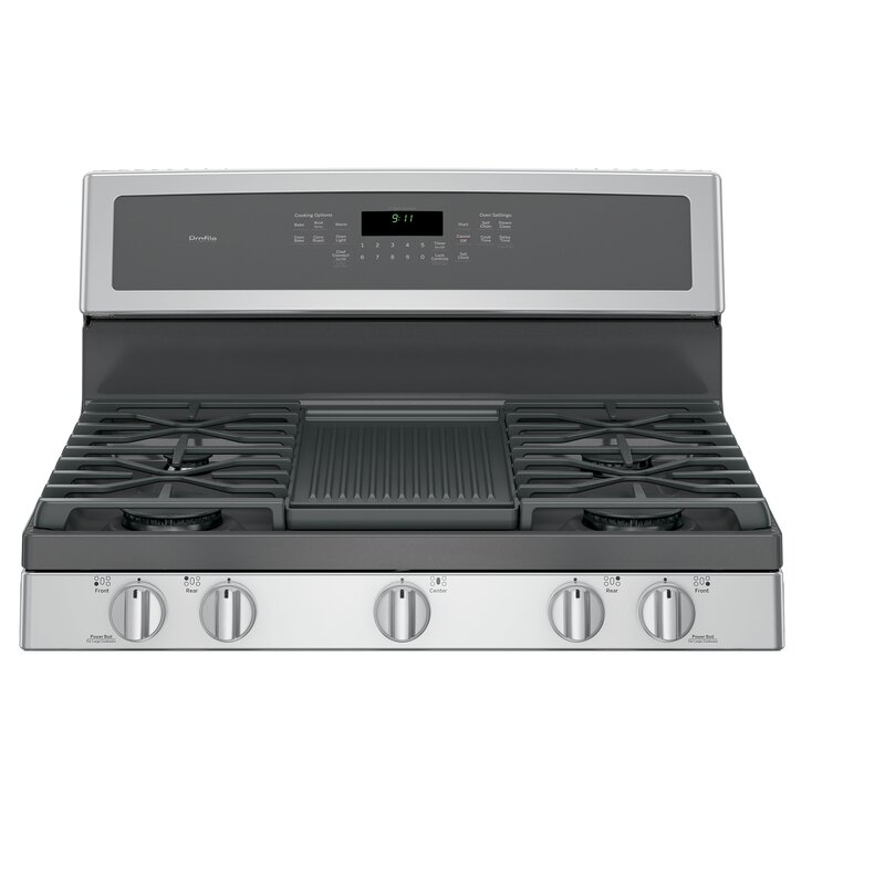 Free Standing Gas Range With Griddle