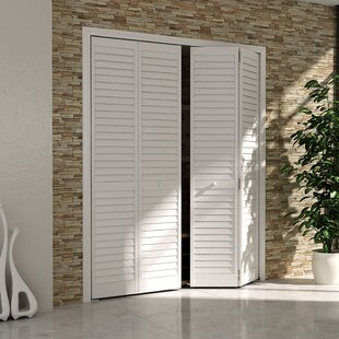 Plantation Louver Panel Wood Bi Fold Door