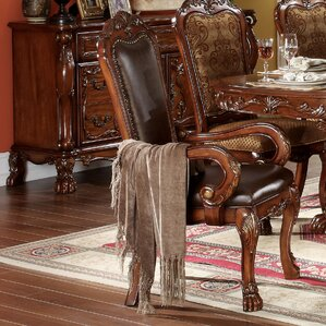 Welliver Carved Upholstered Dining Chair ..