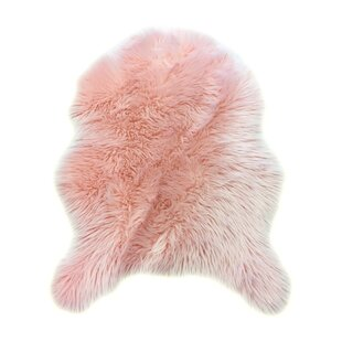 Heimbach Faux Fur Pink Indoor Area Rug