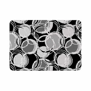 Julia Grifol Simple Circles Memory Foam Bath Rug