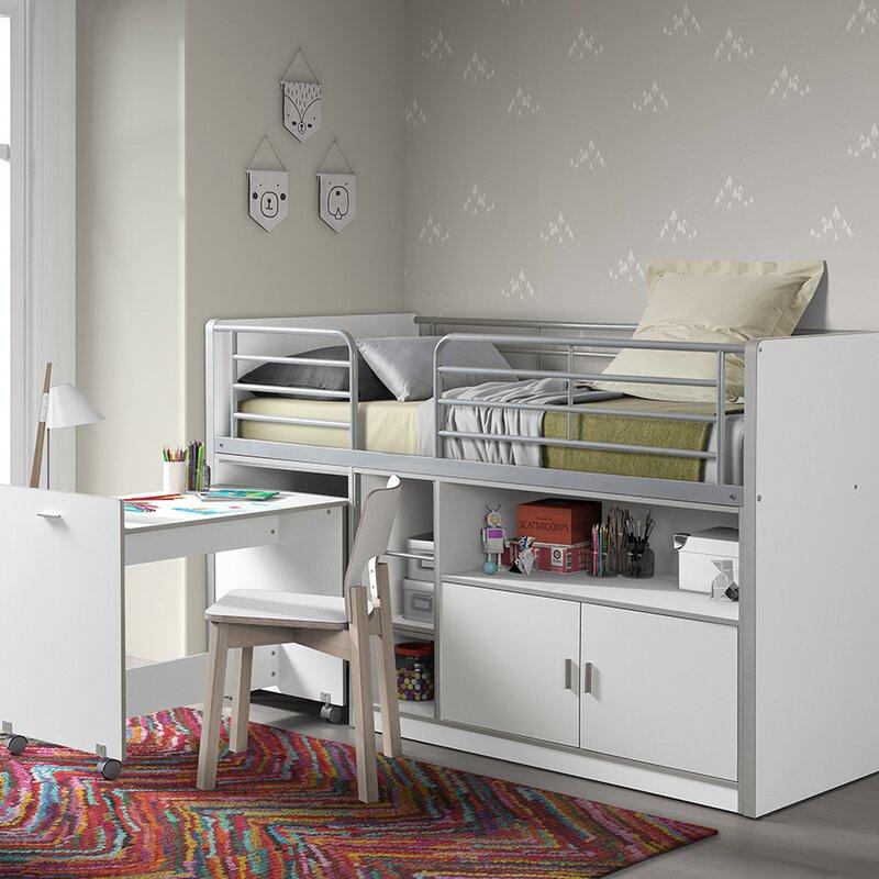 vipack halbhochbett bonny mit schreibtisch 90 x 200 cm. Black Bedroom Furniture Sets. Home Design Ideas