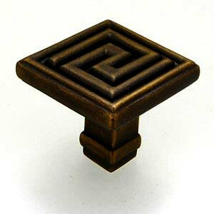 Greek Key Square Knob