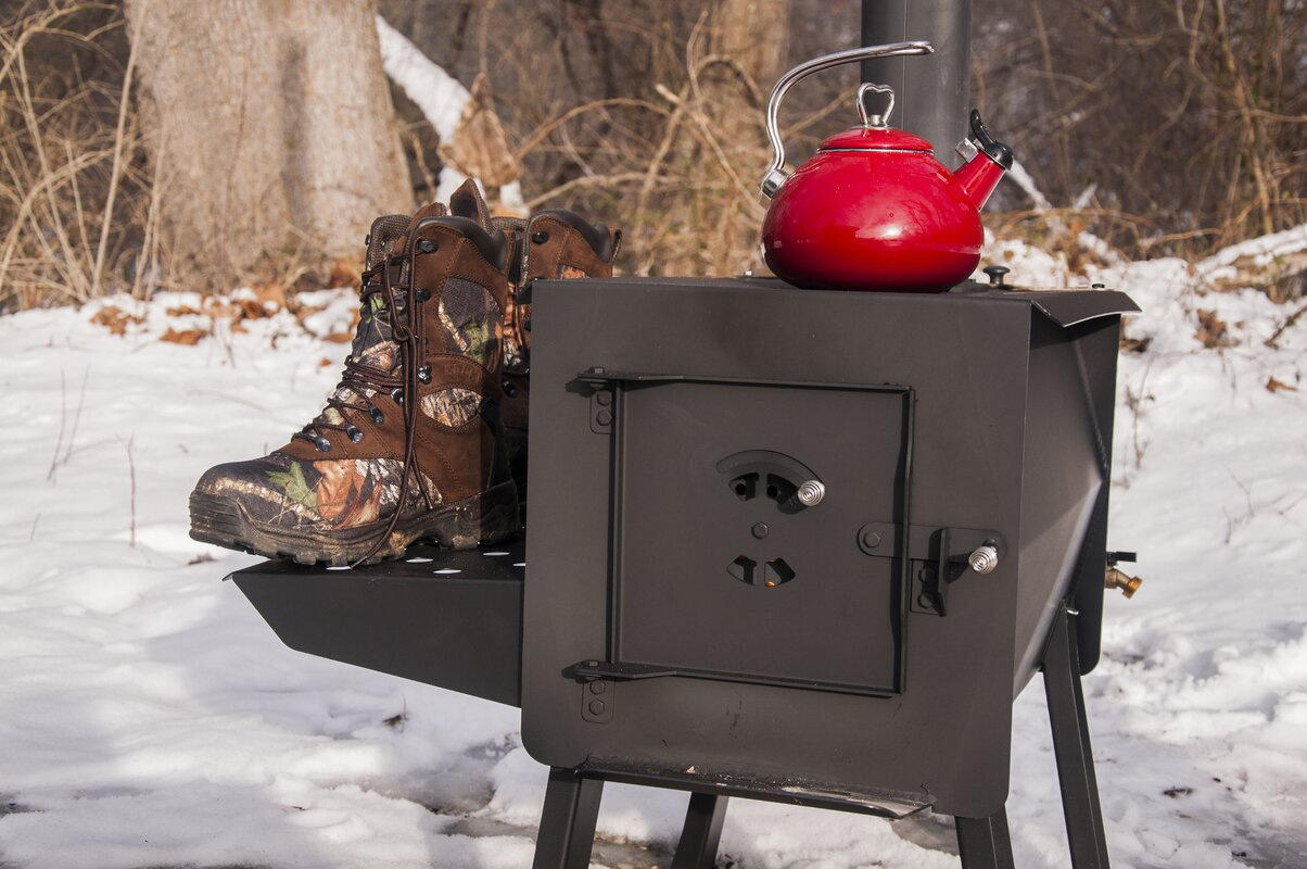 England's Stove Works Grizzly Portable Camp Wood Stove & Reviews ...