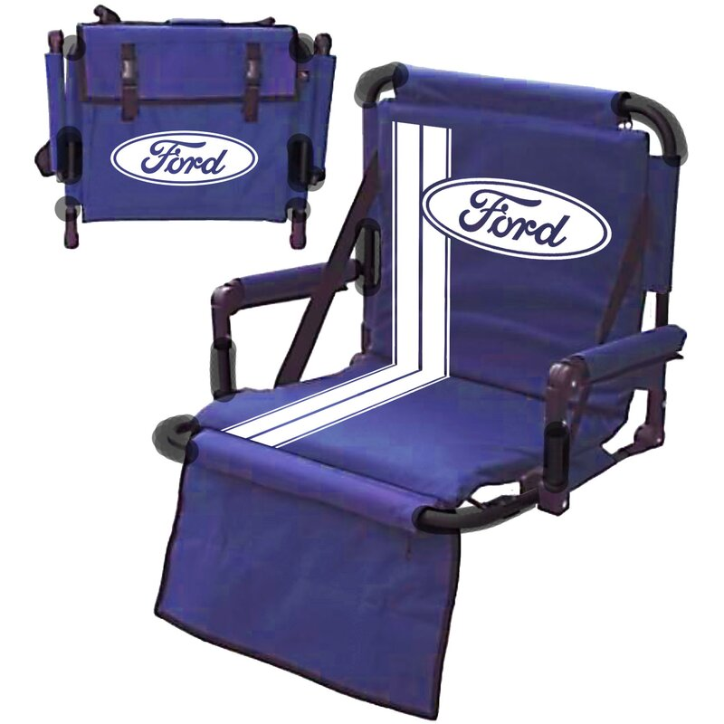 Ford folding stadium seat with cushion wayfair for Garage seat valence